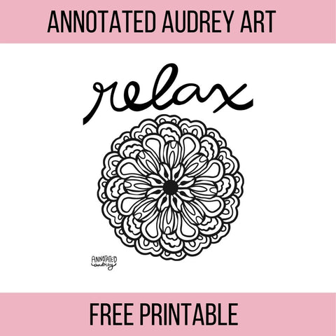 Printable-Relaxing Mandala Coloring Page