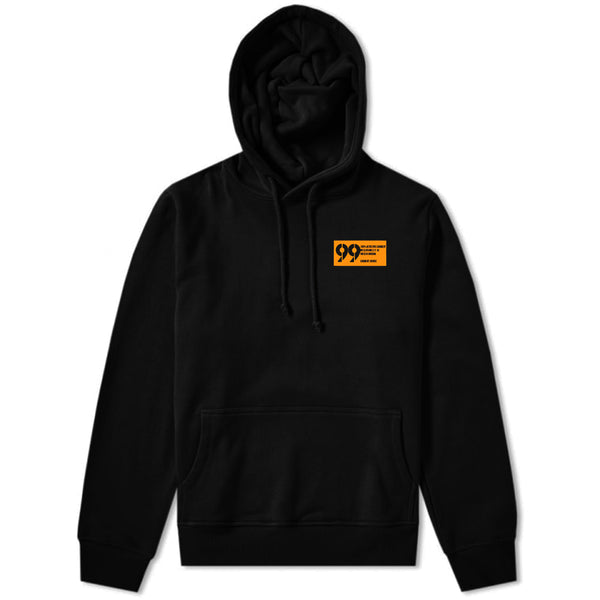 99 Label Hoodie Black & Orange