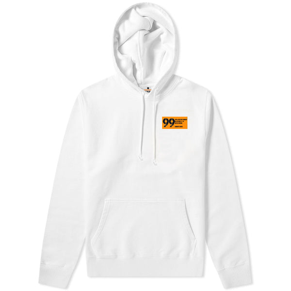 99 Label Hoodie White & Orange