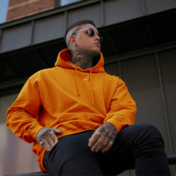 99 Small Logo Hoodie Orange/White