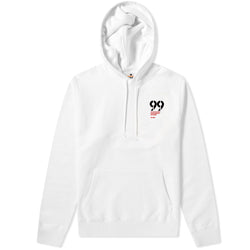 99 Statement Contrast Hoodie White & Red