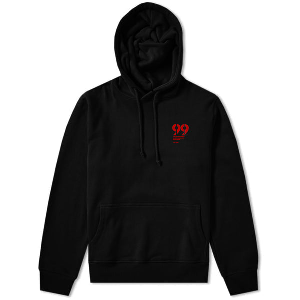 99 Statement Hoodie Black & Red