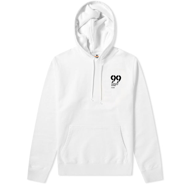 99 Statement Hoodie White & Black
