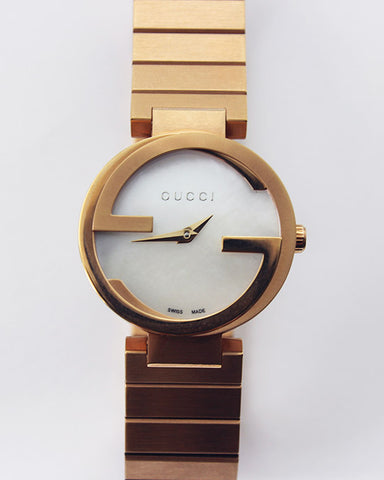 Gucci - Interlocking Mother of Pearl Dial Watch