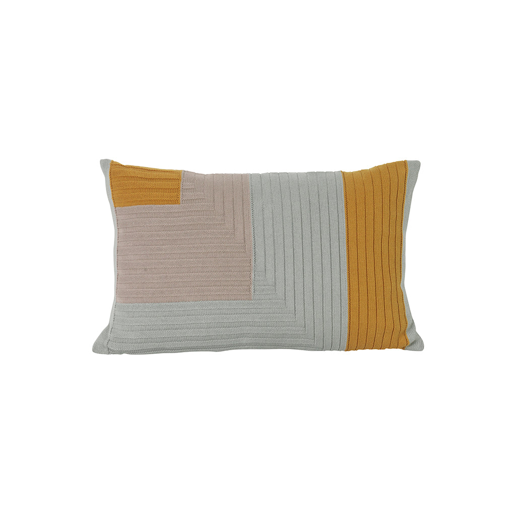 Ferm Living - Pude - Angle Knit Cushion - Curry