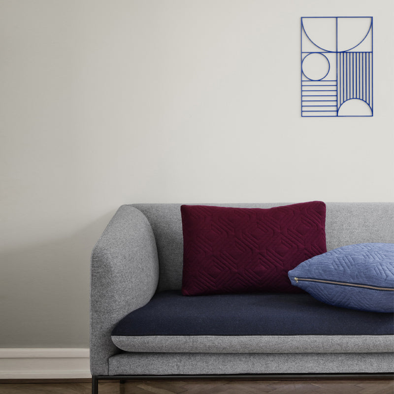 Ferm Living - Pude - Quilt Cushion lyseblå