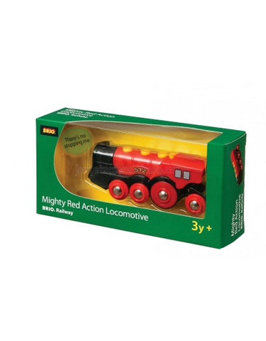 BRIO - Legetøjstog - Mighty Red Action Locomotive