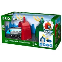BRIO - Legetøjstog - SMART Engine with Action Tunnels