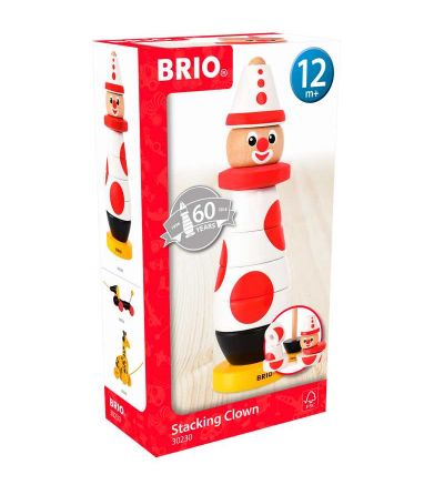 BRIO - Stablefigur - Stacking Clown, 60 Anniversary