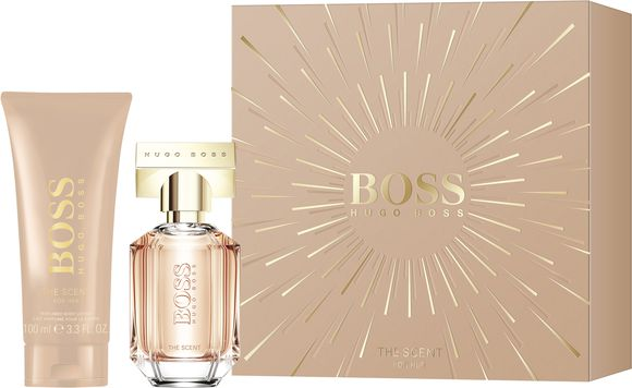 Hugo Boss - The Scent For Her EDP 30 ml + Body Lotion 100 ml - Gavesæt til kvinder