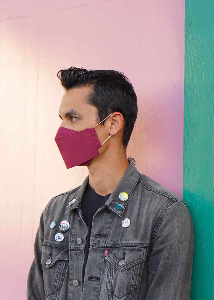 Origami Face Mask - Amaranth - 'Okika Cloth