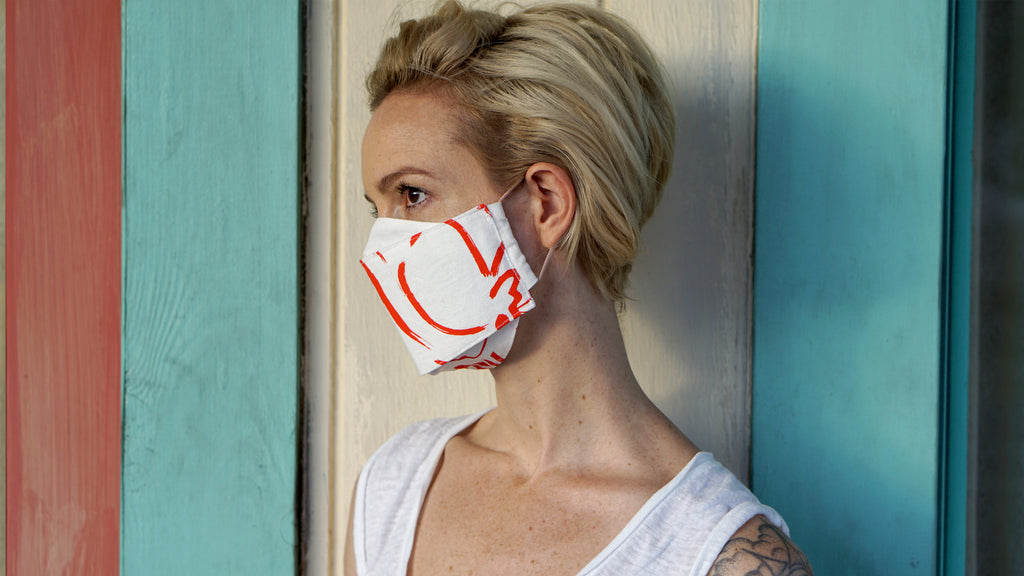 Origami Face Mask - Vermillion - 'OKIKA CLOTH