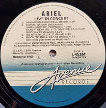Load image into Gallery viewer, Ariel - Live In Concert