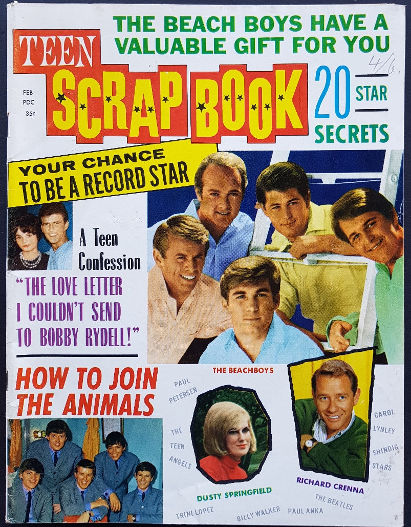 Beach Boys - Teen Scrap Book Vol.1 No.3 1965