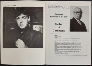 Beatles (Paul McCartney) - Honorary Freedom Of The City Of Liverpool 1984