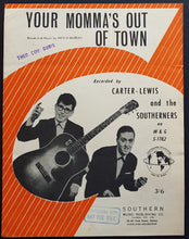 Load image into Gallery viewer, Carter - Lewis And The Southerners - Your Momma's Out Of Town