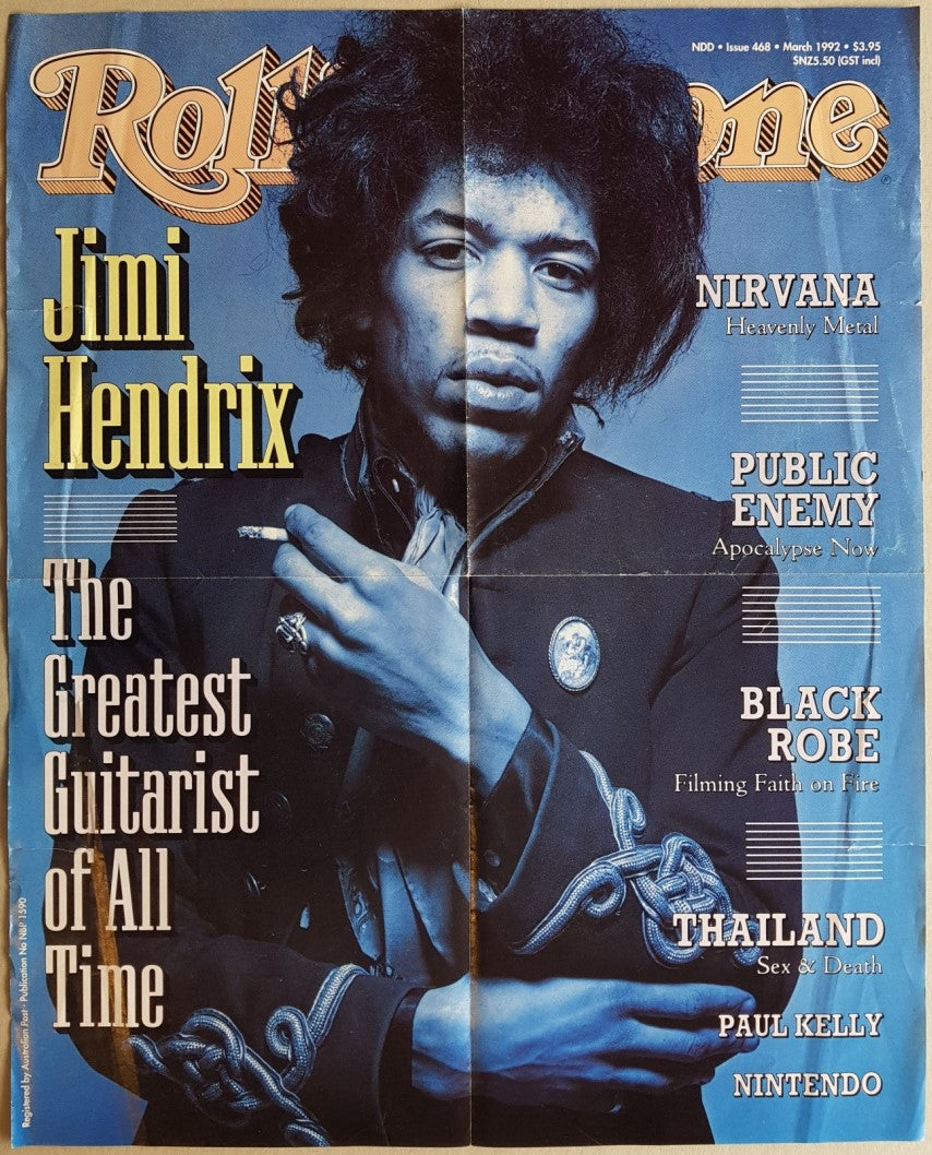 Jimi Hendrix - Rolling Stone Magazine March 1992