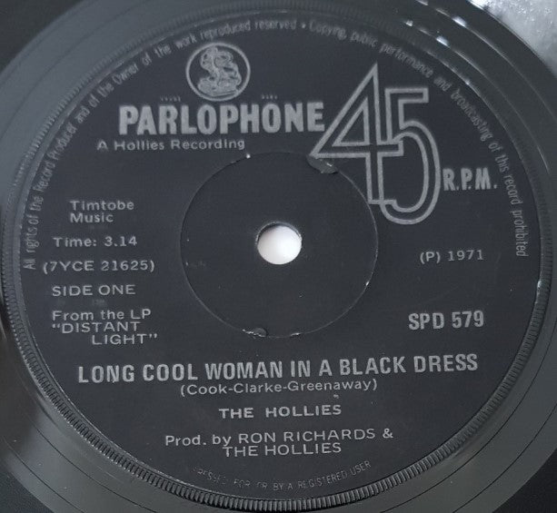 Hollies - Long Cool Woman In A Black Dress
