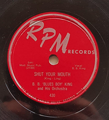 King, B.B. (B.B.'Blues Boy' King) - Shut Your Mouth