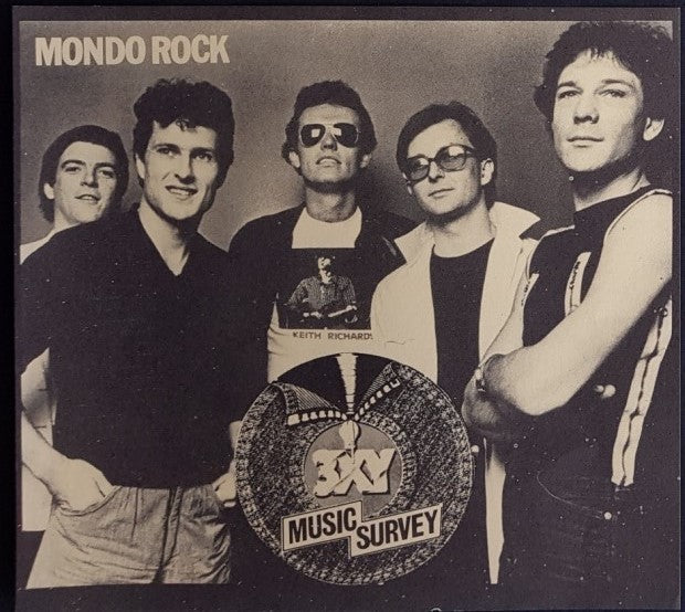 Mondo Rock - 3XY Music Survey Chart