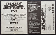Load image into Gallery viewer, Black Sabbath  - The Great Ngaruawahia Music Festival 1973