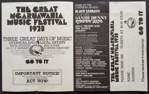 Black Sabbath  - The Great Ngaruawahia Music Festival 1973