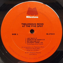 Load image into Gallery viewer, Thelonious Monk  - At The Five Spot
