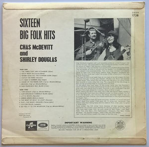 Jones, Wizz - (CHAS McDEVITT & SHIRLEY DOUGLAS) 16 Big Folk Hits