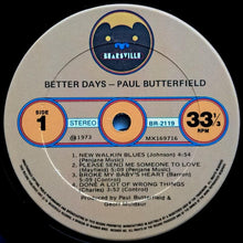 Load image into Gallery viewer, Butterfield Blues Band - Better Days