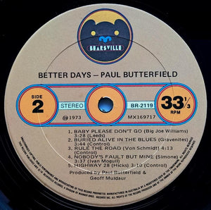 Butterfield Blues Band - Better Days