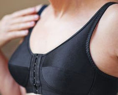 Mastectomy Bra 'Front Close Rose Black'