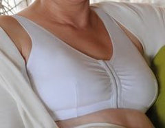 Mastectomy Bra 'Cotton Leisure' Front Close Beige/Black/White