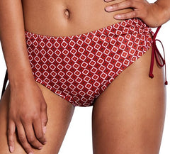 Swim Bottom 'Manda Panty' Burgundy/Multi