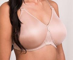 Mastectomy Bra 'Alexandra' Seamless Moulded Cup in Latte, Black or White