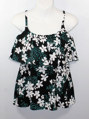 *SALE* Mastectomy Swim Top 'Single Tier Tank' Garden Confetti
