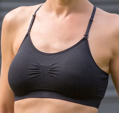 Mastectomy Bra '131 Comfy Convertible Straps' Black or Natural