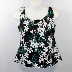*SALE* Mastectomy Swim Top 'Basic Tank Style' Garden Confetti