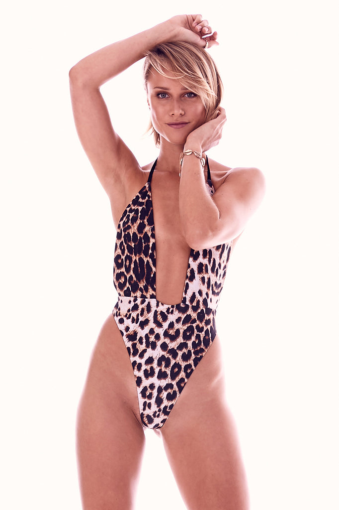 The Wolfess Reversible One Piece /  Wild Leopard & Oynx