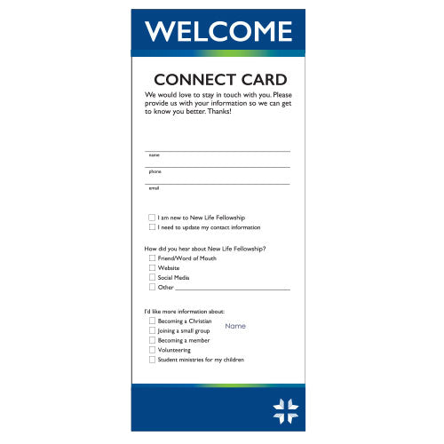 "8.5""x3"" Connection Card"