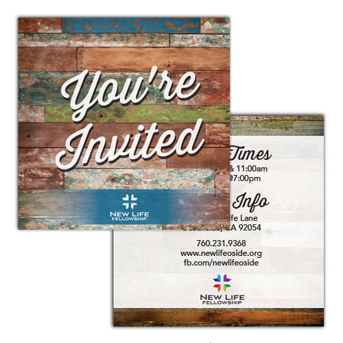 "4""x4"" Square Invite Cards"