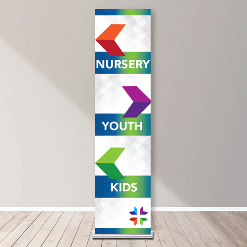 Silver Step 24 Vertical Banner Stand