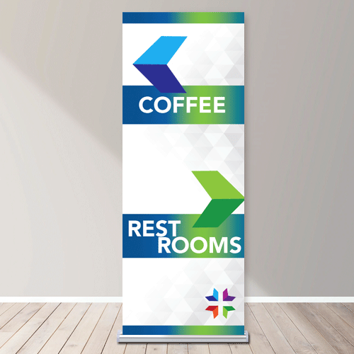 Silver Step 36 Vertical Banner Stand