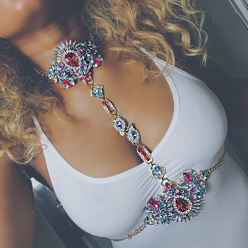 Luxury Crystal Body Chain Jewelry