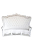 "Fabulous and Baroque's Gryphon Reine 96"" Curved Sofa - White Leatherette"