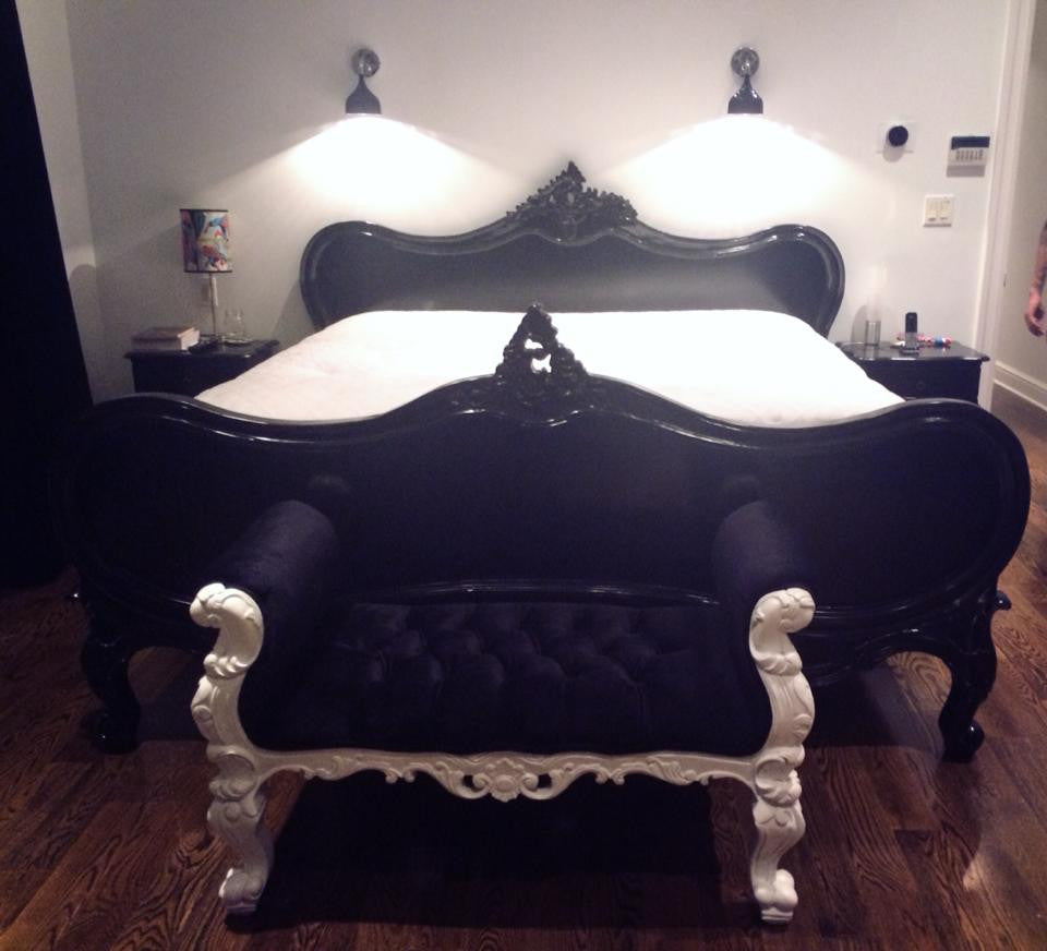 Gerard Bed-Black- Custom Made - Client Photo