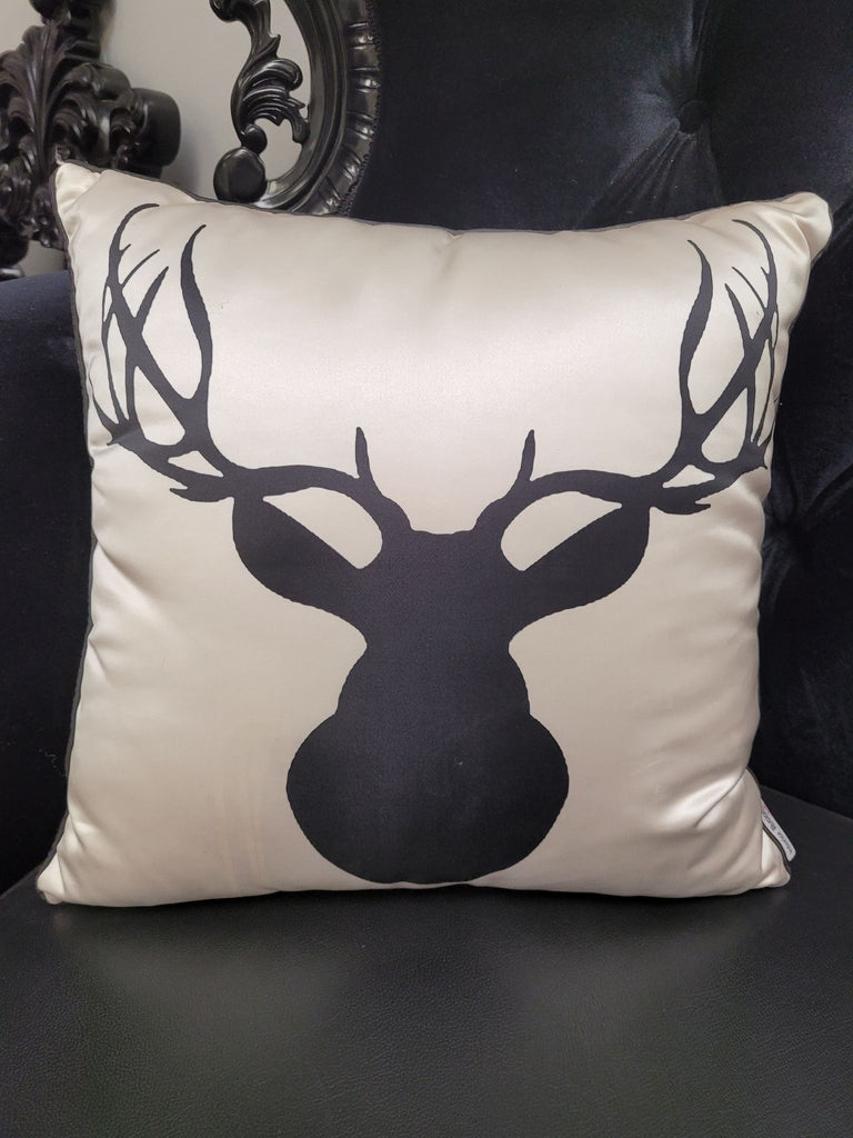 Deer Skull Accent Pillow
