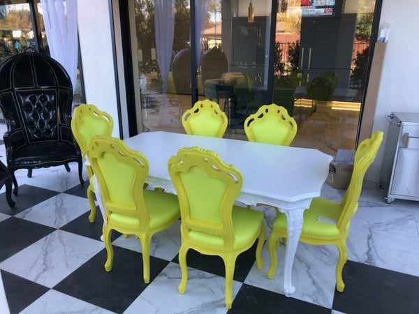 Polart Designs: 701DJ Outdoor Dining Chair in Rave Yellow