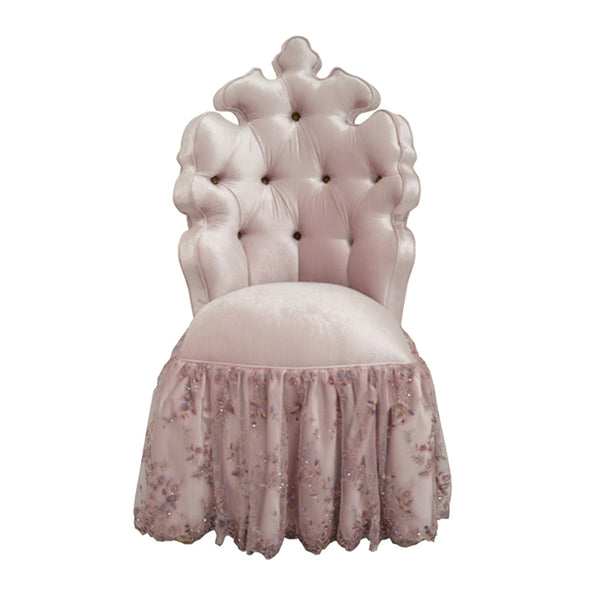 QUEEN'S VELVET VANITY CHAIR