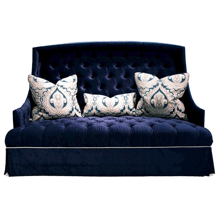 DEUCE NAVY TUFTED SOFA