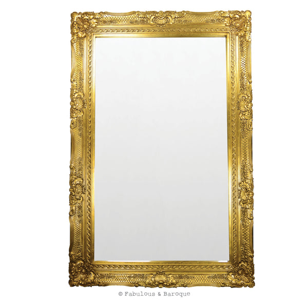 Grand Beau Wall Mirror 6ft x 4ft- Gold Leaf